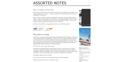 Assorted Notes